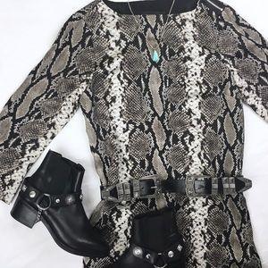 Jones New York Python Print Silky Dress
